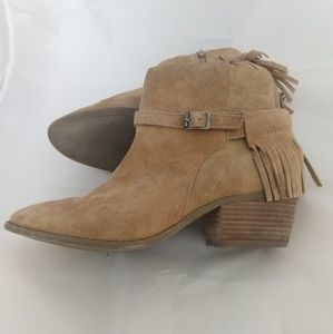 American Eagle Fringe Suede Ankle Boots